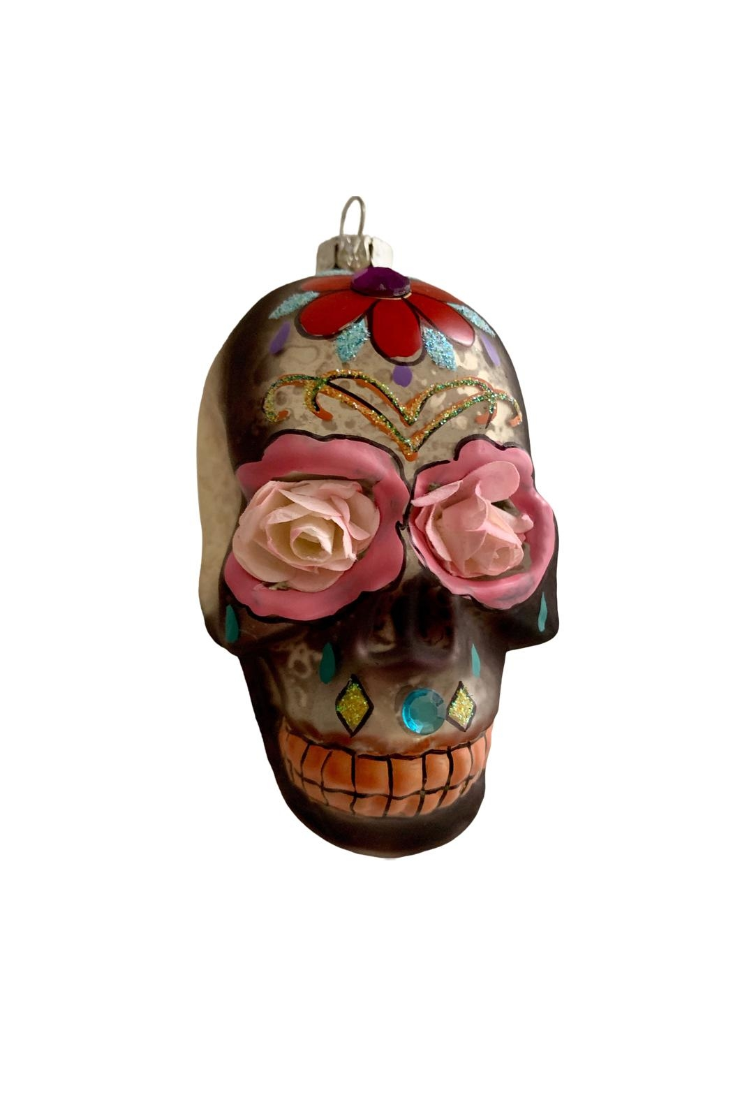 GHome2 Glass Skull Ornament - Front Full Image