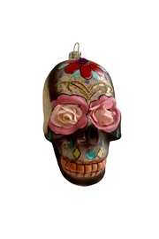 GHome2 Glass Skull Ornament - Front full body