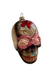 GHome2 Glass Skull Ornament - Front cropped