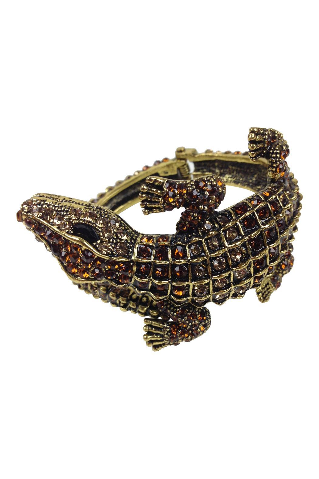 GHome2 Gold Alligator Cuff - Side Cropped Image