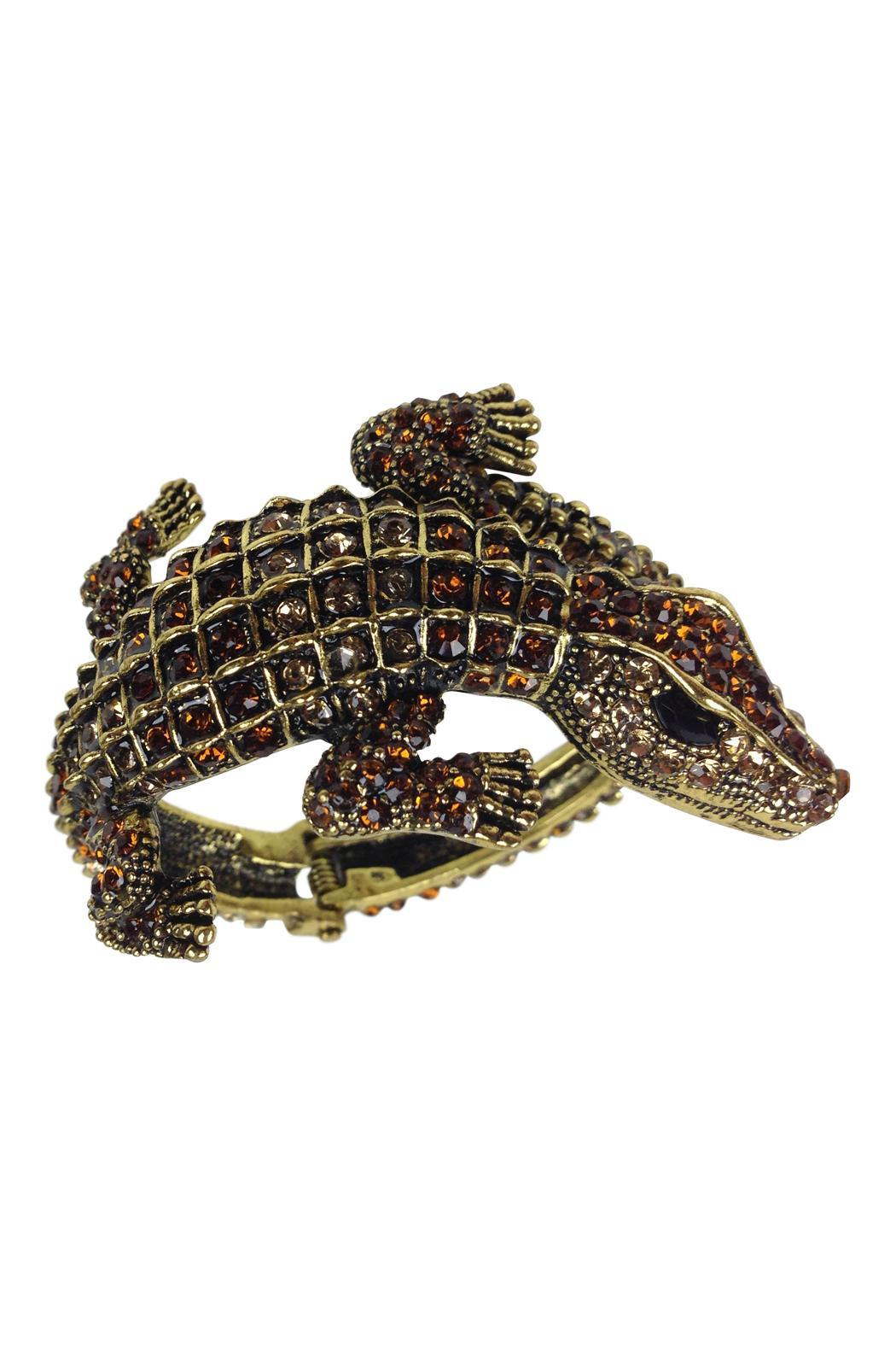 GHome2 Gold Alligator Cuff - Main Image