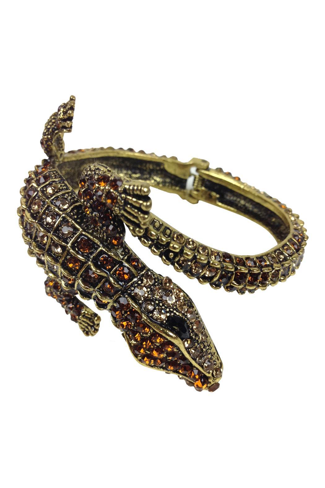 GHome2 Gold Alligator Cuff - Front Full Image