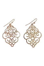 GHome2 Gold Die-Cut Earrings - Front cropped