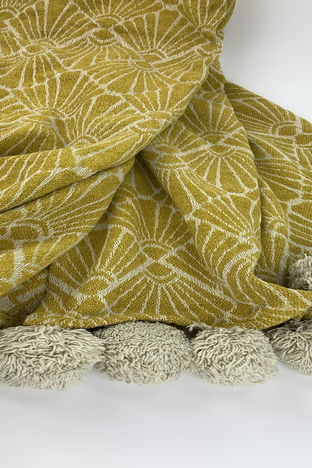GHome2 Golden Curry Deco Cotton Throw - Main Image