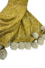 GHome2 Golden Curry Deco Cotton Throw - Product Mini Image