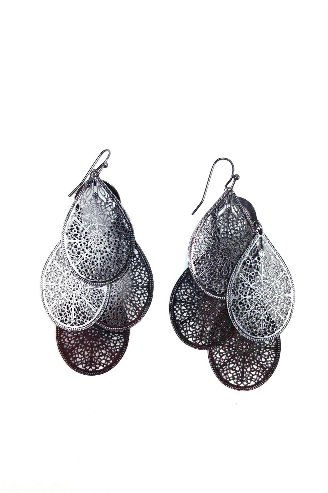 GHome2 Graphite Filigree  Earrings - Side Cropped Image