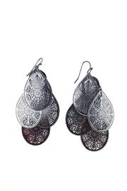 GHome2 Graphite Filigree  Earrings - Side cropped