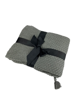 GHome2 Gray All Cotton Throw - Product List Image