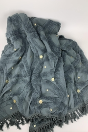 GHome2 Gray Cotton Chenille Throw - Front full body