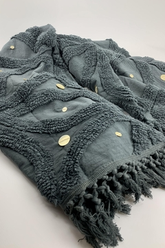 Shoptiques Product: Gray Cotton Chenille Throw