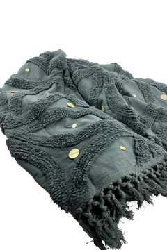 GHome2 Gray Cotton Chenille Throw - Product List Image