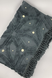 GHome2 Gray Cotton Chenille Throw - Side cropped