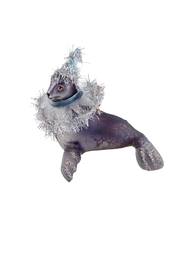 GHome2 Gray Seal Ornament - Front cropped