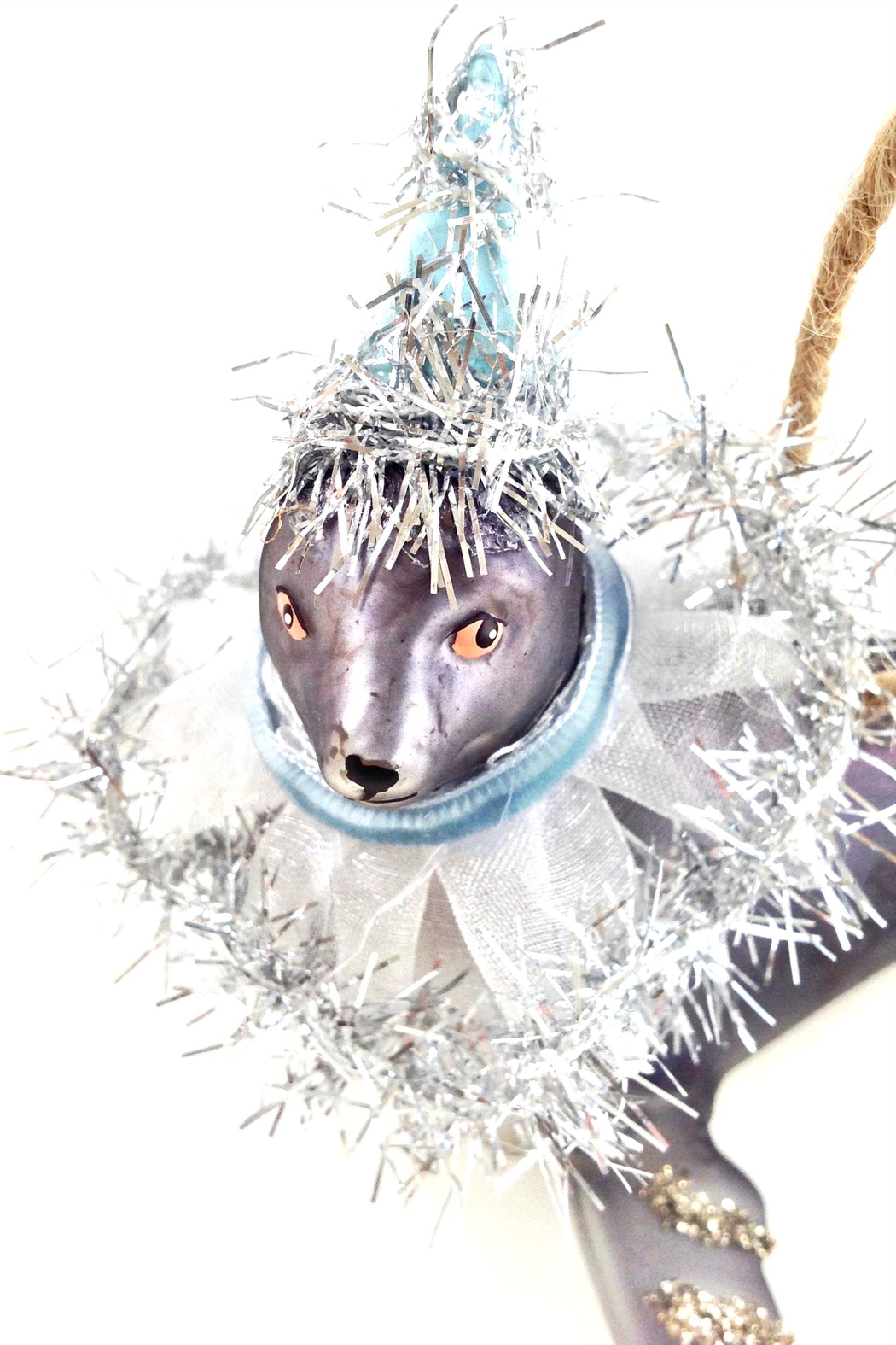 GHome2 Gray Seal Ornament - Back Cropped Image