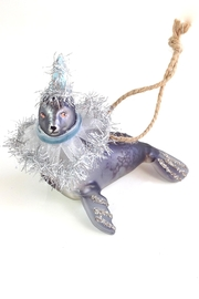 GHome2 Gray Seal Ornament - Side cropped