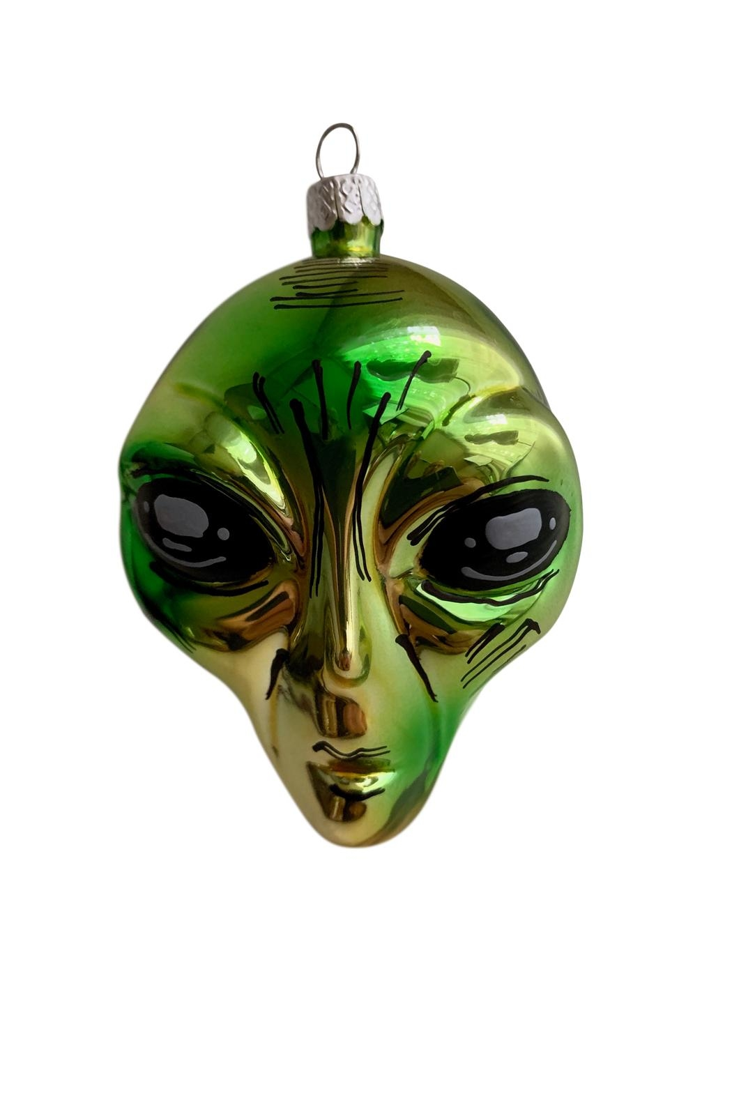 GHome2 Green Alien Ornament - Front Full Image