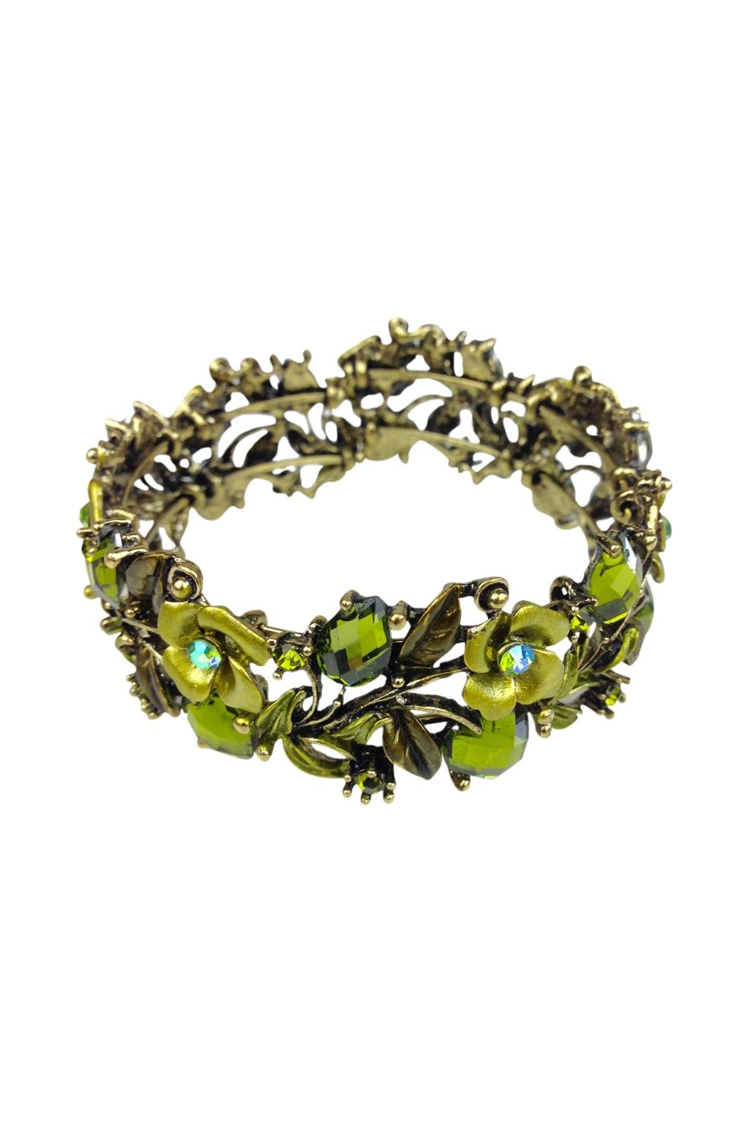 GHome2 Green Crystal Cuff - Front Full Image