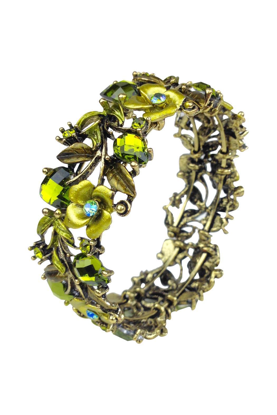 GHome2 Green Crystal Cuff - Front Cropped Image