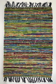 GHome2 Green-Multi Rug - Side cropped