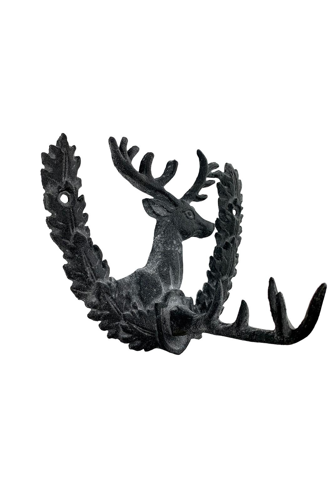 GHome2 Iron Deer Wall Hook - Front Full Image