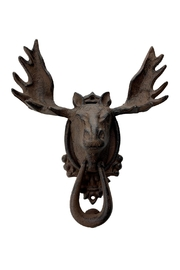 GHome2 Iron Moose Door Knocker - Front cropped
