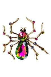 GHome2 Large Spider Brooch - Front cropped