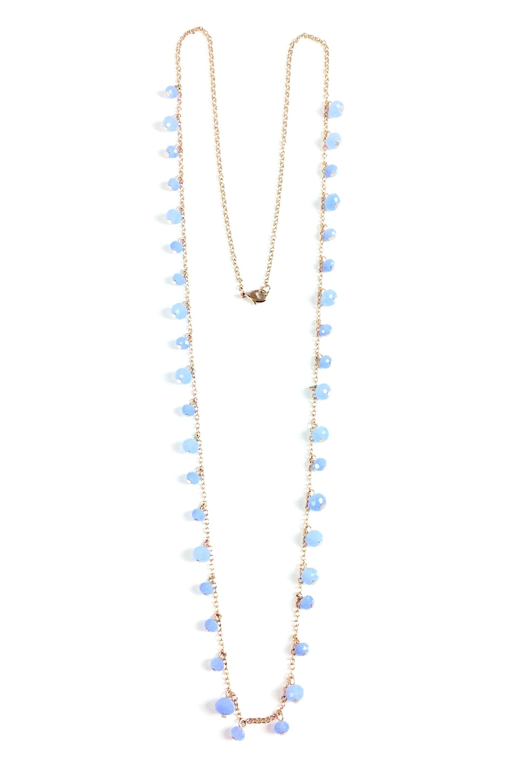 GHome2 Long Necklace W/blue-Crystals - Main Image