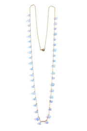GHome2 Long Necklace W/blue-Crystals - Front cropped