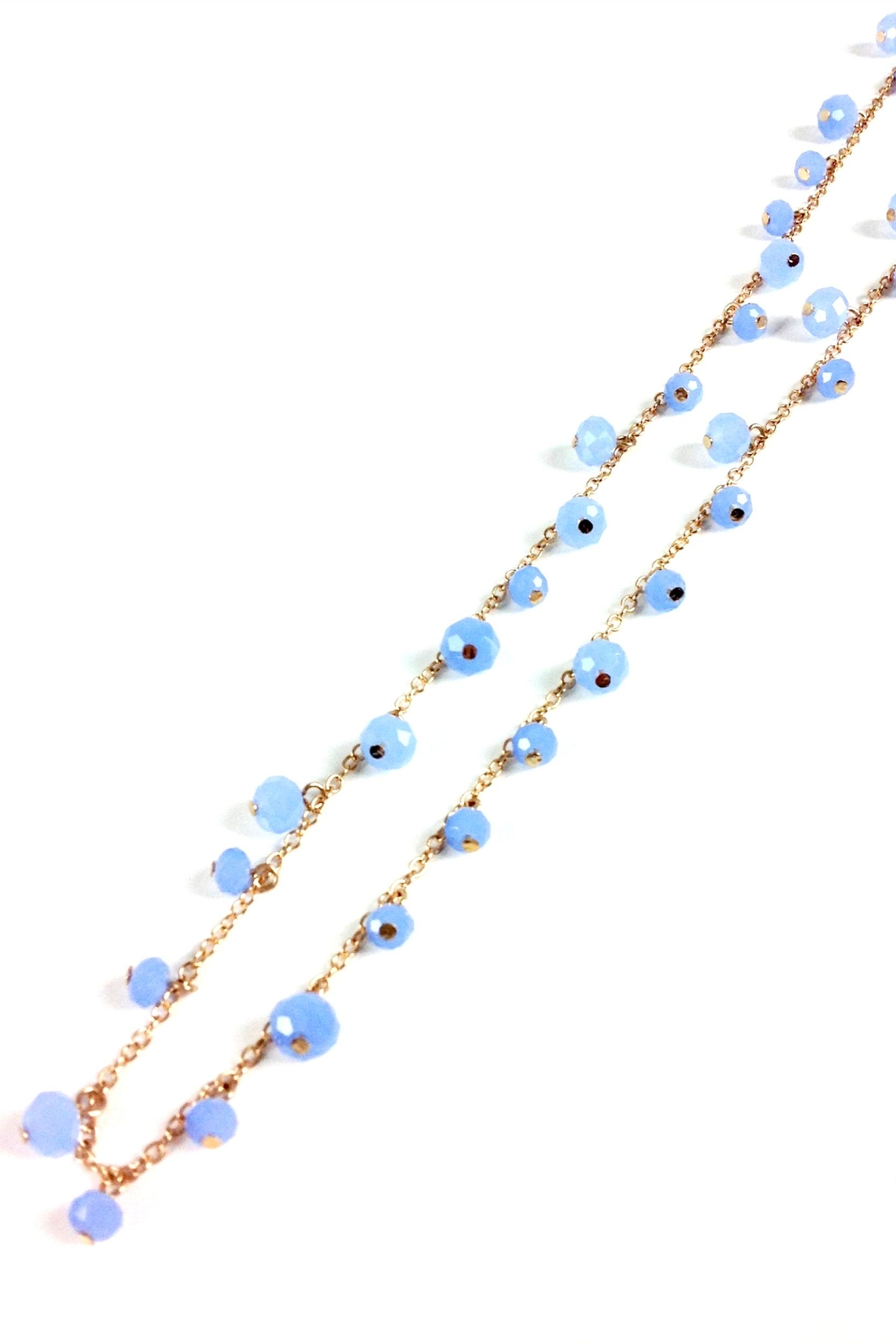 GHome2 Long Necklace W/blue-Crystals - Back Cropped Image