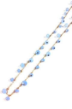 GHome2 Long Necklace W/blue-Crystals - Alternate List Image