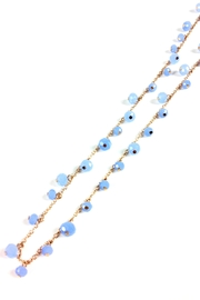 GHome2 Long Necklace W/blue-Crystals - Back cropped