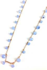 GHome2 Long Necklace W/blue-Crystals - Front full body