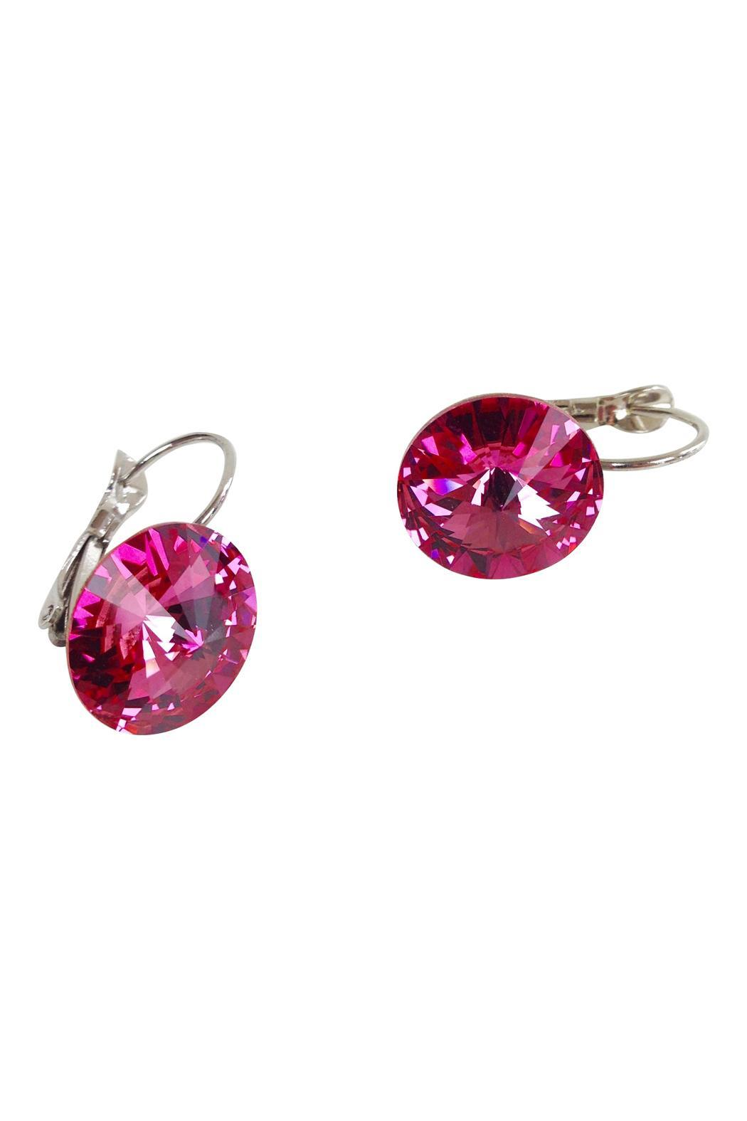 GHome2 Magenta Swarovski Earrings - Front Full Image