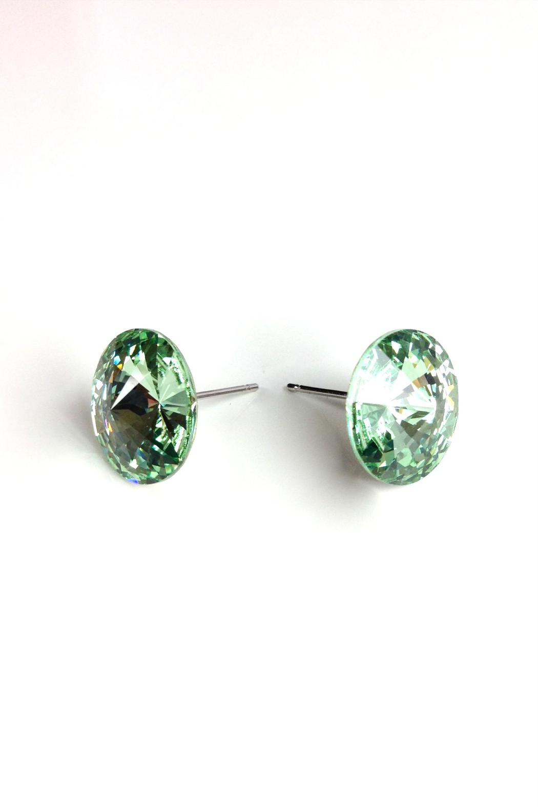 GHome2 Mint Green Swarovski Earrings - Front Full Image
