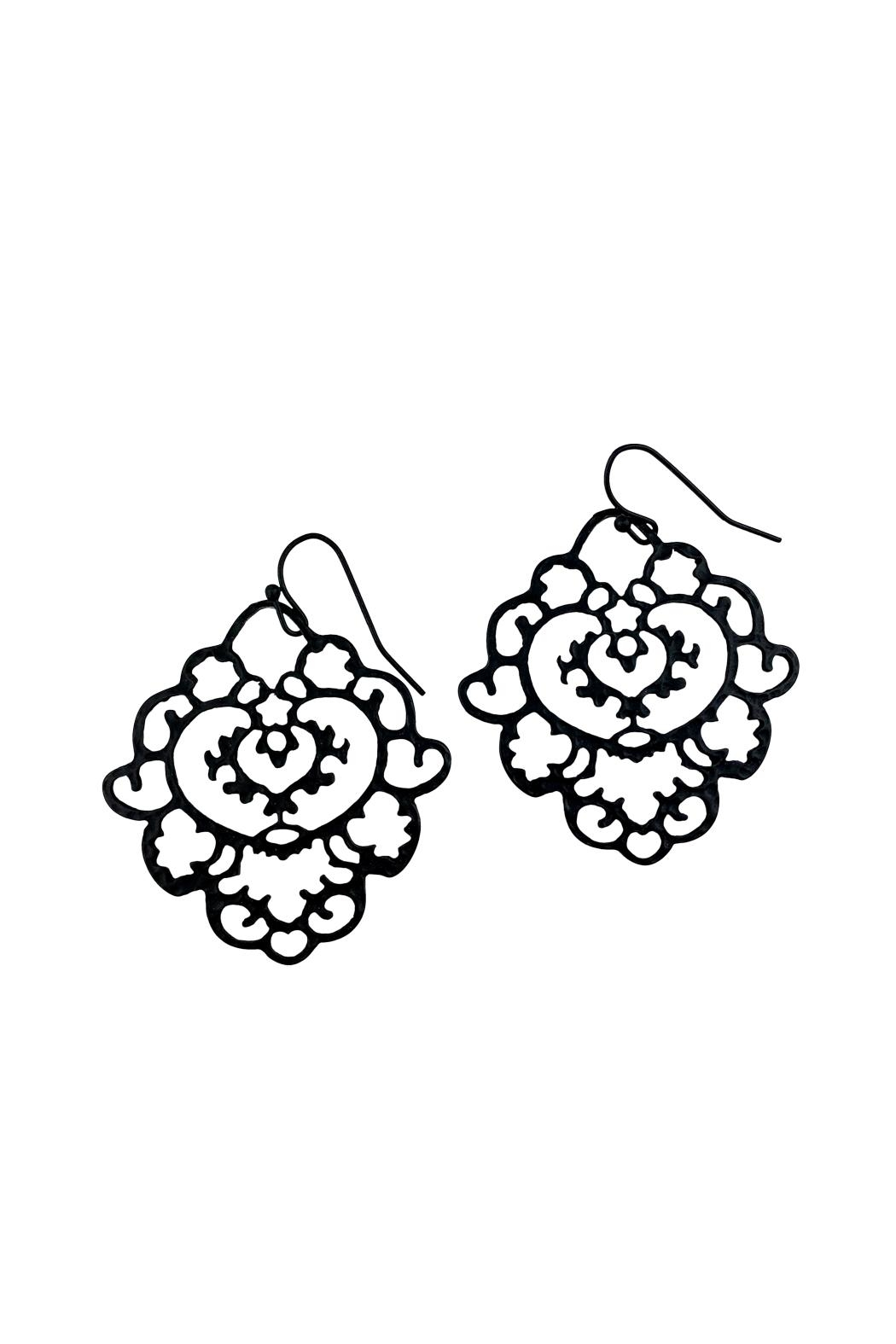 GHome2 Moroccan Filigree Earrings - Front Full Image