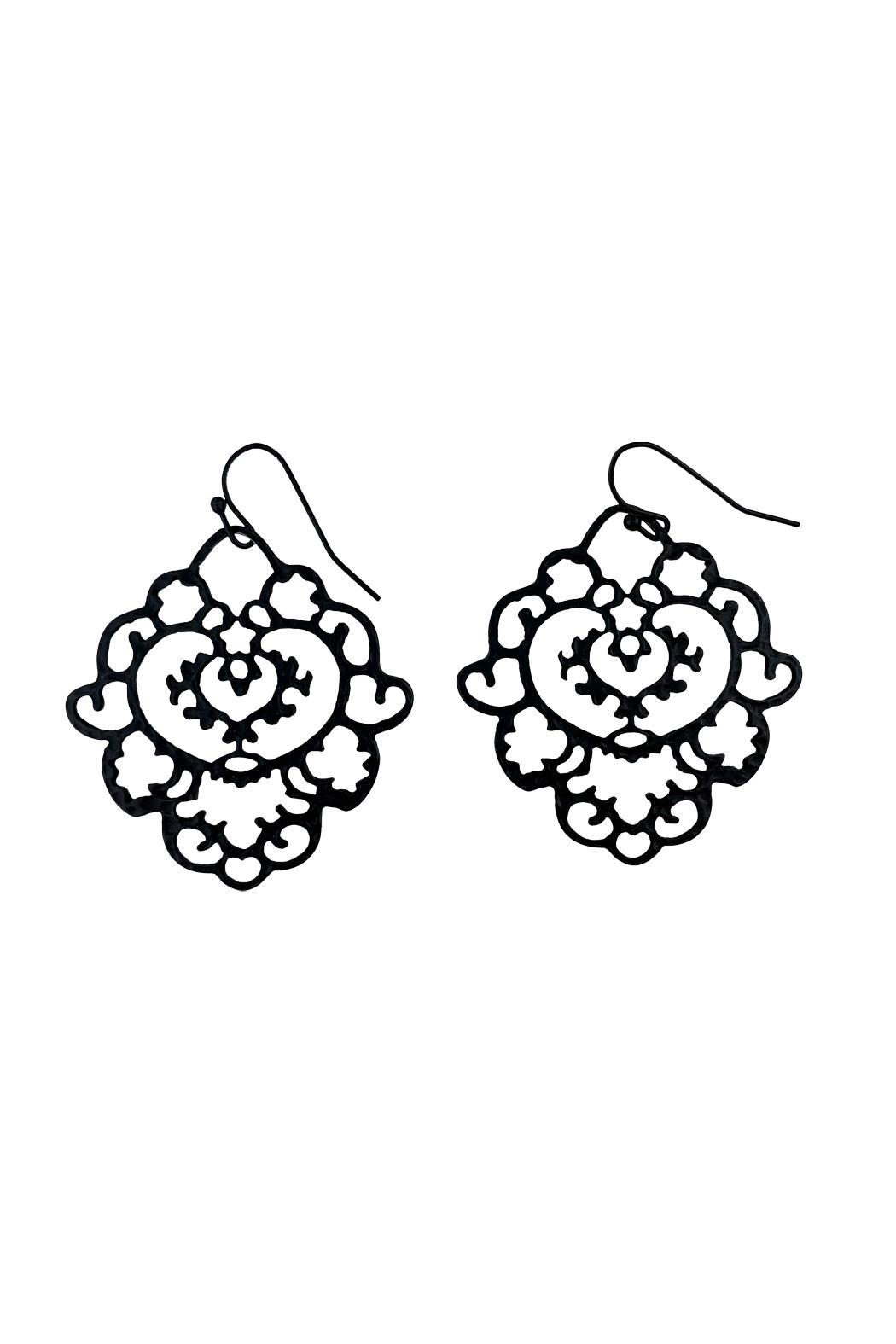 GHome2 Moroccan Filigree Earrings - Front Cropped Image
