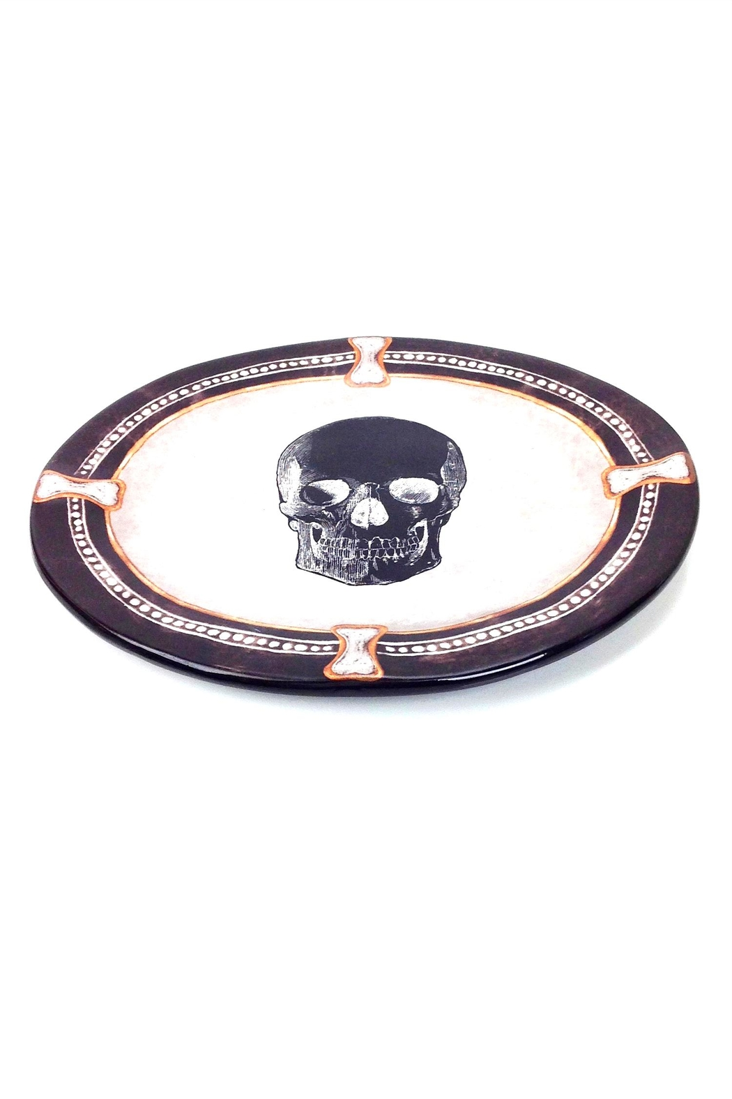 GHome2 Oval Skull Plate - Front Full Image