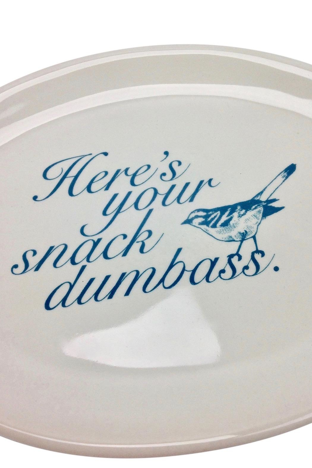 GHome2 Oval Snack Plate - Front Full Image