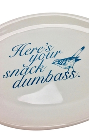 GHome2 Oval Snack Plate - Front full body