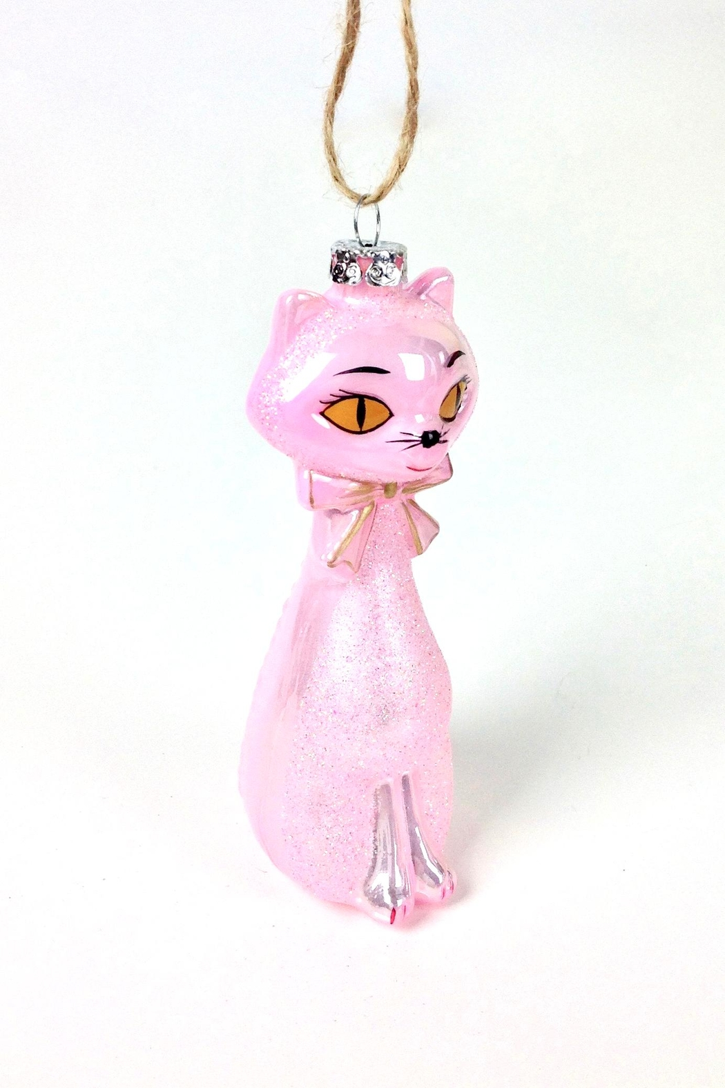 GHome2 Pink Kitten Ornament - Front Full Image