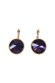 GHome2 Purple Swarovski Earrings - Product Mini Image