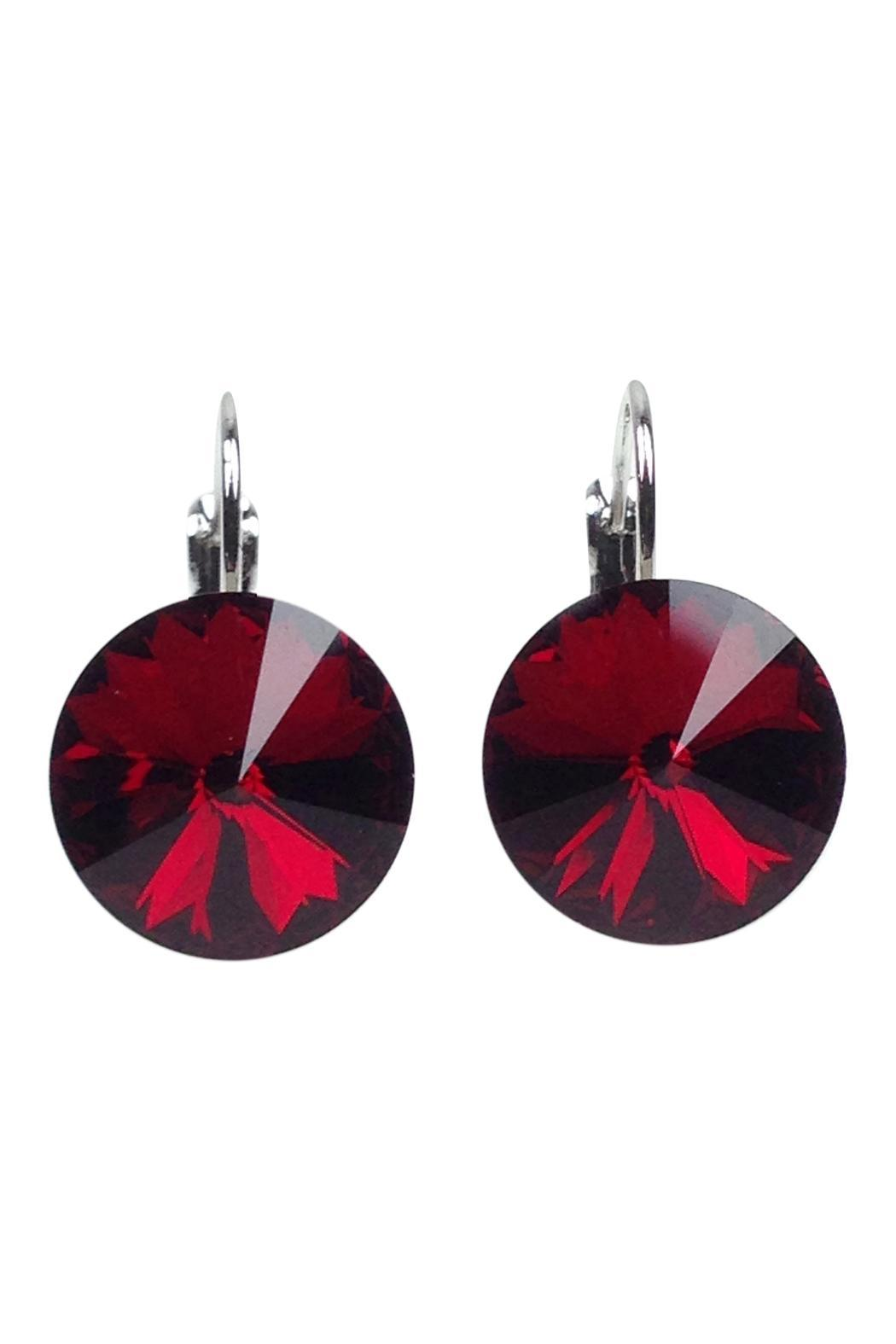 little desirez crystal rm red lever products img back earrings jewelry