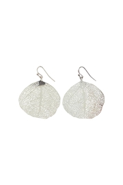 GHome2 Silver Filigree Leaf Earrings - Product Mini Image