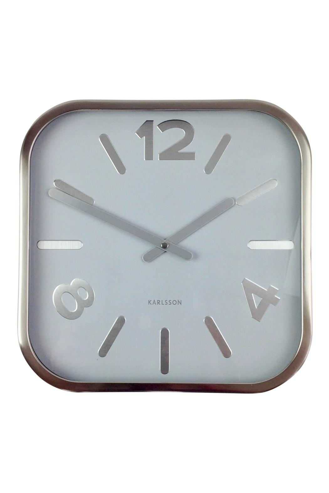 GHome2 Silver Square Clock - Front Cropped Image