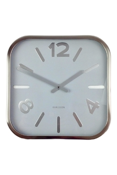 Shoptiques Product: Silver Square Clock