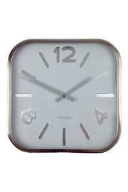 GHome2 Silver Square Clock - Front cropped