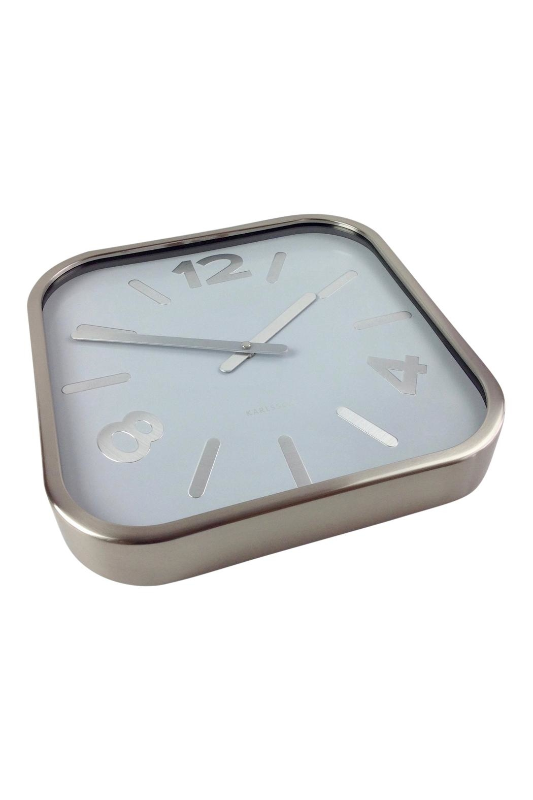 GHome2 Silver Square Clock - Front Full Image