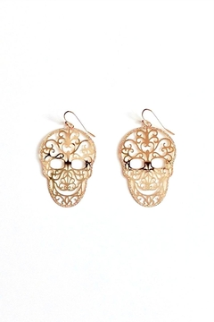 Shoptiques Product: Skull Filigree Earrings