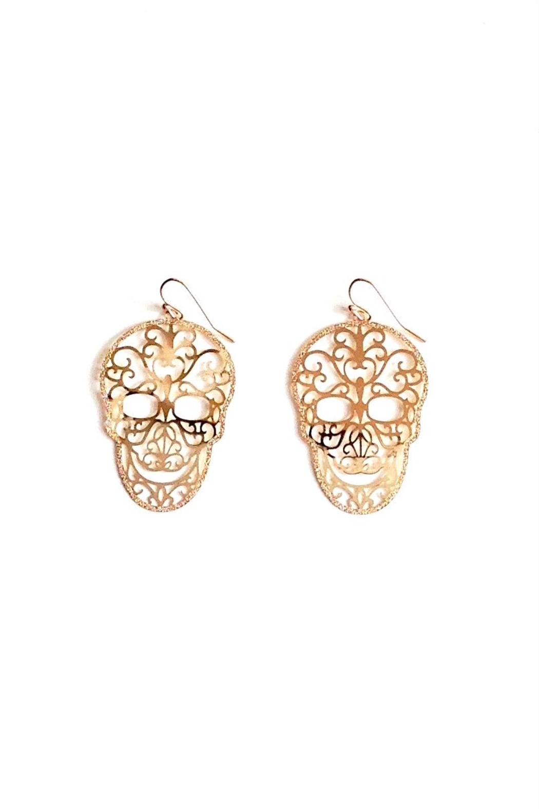 GHome2 Skull Filigree Earrings - Front Full Image