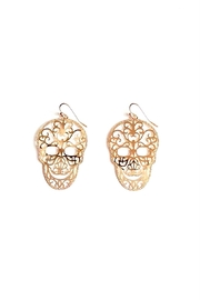 GHome2 Skull Filigree Earrings - Front full body